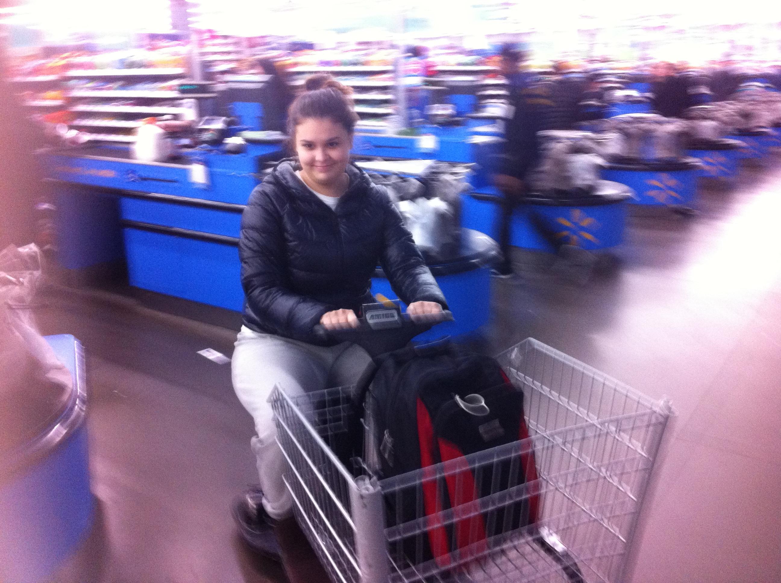 My stepdaughter at Walmart