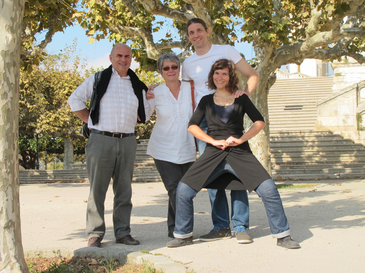 With family in France